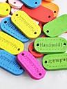 botones de madera diy elíptica coser Scraft libro de recuerdos hechos a mano (10 piezas color al azar)