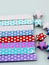 18 шт мигать светящиеся счастливой звездой оригами материалы (Random Color)