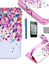 Coco fun® teste padrão de pontos colorido couro pu caso de corpo inteiro com protetor de tela para iphone 4 / 4s