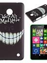 Crazy Teeth Pattern PC Hard Case for Nokia Lumia N630