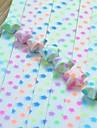 30 pcs efeito fluorescente padrão pentagrama lucky star materiais origami (cor aleatória)