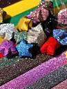 σκόνη glitter υλικά origami τυχερό αστέρι (20 σελίδες / 1 χρώμα / πακέτο τυχαία χρώμα)