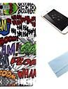 padrão ha-ha TPU tampa traseira macia com película para iPhone 6 Plus