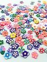 300PCS Mixed Style Fimo Slice Flower Series Nail Art Decoration
