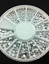 4 tamanho 300pcs prata decorações de arte strass acrílico prego