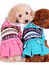 Собаки / Коты Платья Зеленый / Розовый / Оранжевый Зима Бант Свадьба