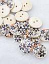 черный цветок записки scraft швейные DIY Деревянные кнопки (10 шт)