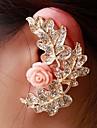 la mode des femmes exquises feuille fleur oreille poignets de couleur aléatoire