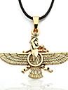мужская сплав цинка желтый орел черный ожерелье веревочки зороастризм Ахура Мазда