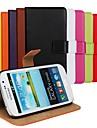 Pour Samsung Galaxy Coque Portefeuille Porte Carte Avec Support Clapet Coque Coque Intégrale Coque Couleur Pleine Cuir PU pour Samsung