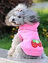 Gato Cachorro Camisola com Capuz Roupas para Cães Fofo Casual Fruta Rosa claro