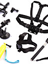 Chest Harness Front Mounting Monopod Suction Cup Straps Hand Grips/Finger Grooves Mount / Holder Floating ForGopro 5 Gopro 3 Gopro 3+