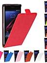 grão cavalo de couro pu caso de corpo inteiro flip-aberto para o Sony Xperia z1 l39h (cores sortidas)
