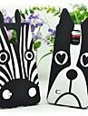 lovely 3d cão da zebra dos desenhos animados animais de silicone macio tampa bonito caso para samsung galaxy note 4