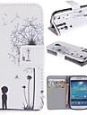 Para Samsung Galaxy Capinhas Porta-Cartão / Com Suporte / Flip / Estampada Capinha Corpo Inteiro Capinha Dente de Leão Couro PU SamsungS4