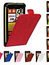 флип-Open лошадь зерна искусственная кожа Полный чехол тела для Nokia Lumia 625 (разных цветов)