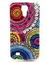 용 삼성 갤럭시 케이스 패턴 케이스 뒷면 커버 케이스 꽃장식 TPU Samsung S4
