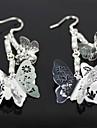 красивые серебряные серьги бабочки - серебро (1 пара)