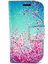 Cherry Blossom шаблон PU кожаный с футляром и слот для карт памяти для Samsung s3 мини i8190
