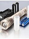 LED Flashlights/Torch / Handheld Flashlights/Torch LED 5 Mode 2400 Lumens Adjustable Focus / Waterproof / Rechargeable / Nonslip grip