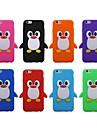 3d mignon pingouin étui en silicone souple pour iPhone (6 couleurs assorties)