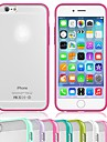 Multi-Color Gel Translucent Scrub PC Hard Back Case with TPU Bumper for iPhone 6 (Assorted Color)