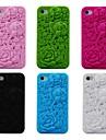 3d subiu de borracha de silicone padrão estojo para iPhone 4 / 4S (cores sortidas)
