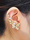 Ear Cuffs Rhinestone Alloy Silver Golden Jewelry Party Daily