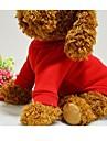 Собаки Футболка / Толстовка Красный / Синий / Черный / Розовый Одежда для собак Зима / Весна/осень Однотонный Милые