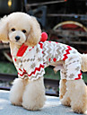 개 점프 수트 베이지 강아지 의류 겨울 모든계절/가을 눈송이 귀여운 새해