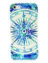 caso duro teste padrão azul bússola para 4/4s iphone