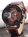 Мужской Спортивные часы Кварцевый Кожа Группа Черный Коричневый марка