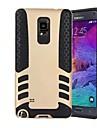 camada foguete armadura caso design dupla manga de protecção para Samsung Galaxy nota 4