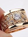 пасьянс желтого золота 18 карат заполнено срезанные 1.2ct CZ мужская или женщин кольцо sz8
