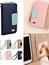 DF Colorful Little Bird PU Leather Full Body Case with Strap for iPhone 4/4S(Assorted Colors)