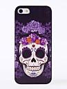 아이폰 6에 대한 보라색 꽃 두개골 패턴 하드 케이스