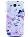 Para Samsung Galaxy Capinhas Estampada Capinha Capa Traseira Capinha Flor TPU Samsung S3