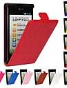 grão cavalo de couro pu caso de corpo inteiro flip-aberto para o LG Optimus L7 P700 / P705 (cores sortidas)