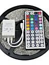 z®zdm водонепроницаемый 5м 150x5050 SMD RGB светодиодные полосы света с 44key пульта дистанционного управления (DC12V)