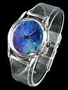 Женские Модные часы Кварцевый Pезина Группа Белый бренд-