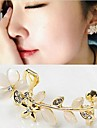 Earring Flower Ear Cuffs Jewelry Wedding / Party / Daily / Casual Alloy / Rhinestone Gold