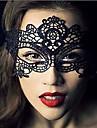 Masque Cosplay Fête / Célébration Déguisement d'Halloween Noir Dentelle Couleur Pleine Masque Halloween Unisexe Dentelle