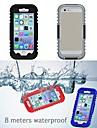 IP68 de proteção caso reservatório de plástico e silicone à prova d'água para iPhone 6