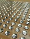 300pcs 2sheet / set / 600pcs de chapa de 6 mm de diamantes de imitación claro pegatinas scrapbooking autoadhesiva