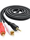 3m 9,84 аудио 3,5 мм до 2 * RCA м / м аудио кабель