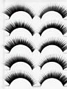 New 5 Pairs Natural Black Long Thick False Eyelashes Eyelash Eye Lashes for Eye Extensions