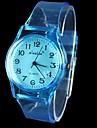 Женские Модные часы Кварцевый Pезина Группа Наручные часы