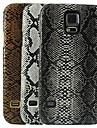삼성 갤럭시 S5 i9600를위한 뱀 피부 디자인 패턴 하드 케이스