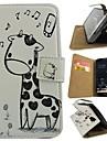 Pour Samsung Galaxy Coque Portefeuille Porte Carte Avec Support Clapet Motif Coque Coque Intégrale Coque Animal Cuir PU pour Samsung S4