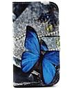 бабочка шаблон PU кожаный полный случай тела с подставкой для Motorola MOTO г